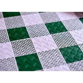 Voorgesneden papieren tafelkleed groen Checkers 40g 1,2x1,2m (300 stuks)