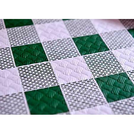 """Nappe en papier 1x1m """"Carrés Verts"""" 37g (400 Unités)"""