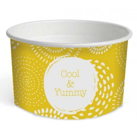 "Pot à glace en carton 5oz/140 ml ""Cool&Yummy"" (50 Unités)"