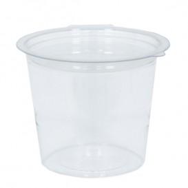 Pot Rond avec charnière APET Transparent 125ml Ø70mm (81 Utés)