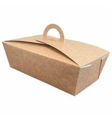 Boîte à Menu Kraft 131x131x115mm (25 Utés)