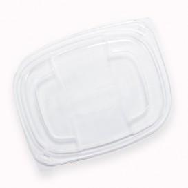 Plastic Deksel transparant Container PP 250/350 en 450ml 14,2x11,1x2cm (20 stuks)