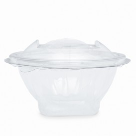 Plastic saladekom APET Rond vormig transparant 150ml Ø12cm (420 stuks)