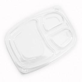 Couvercle Transparent Barquette 3C 1050/1250ml 255x189x20mm (320 Utés)