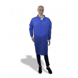Wegwerp-laboratoriumjas NonWoven Velcro Donkerblauw XL (1 stuk)