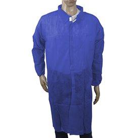 Wegwerp-laboratoriumjas NonWoven Velcro Donkerblauw XL (100 stuks)