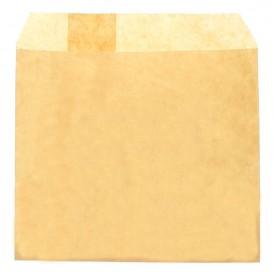 Papieren frieten envelop Vetvrij kraft 12x12cm (250 stuks)
