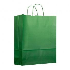 Sac en Papier Vert avec Anses 100g 25+11x31cm (25 Utés)
