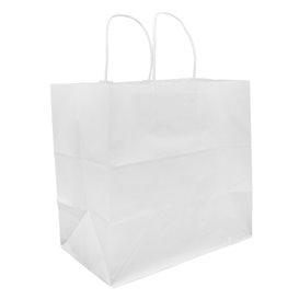 Sac en Papier Kraft Blanc avec Anses 80g 30+18x29cm (25 Utés)