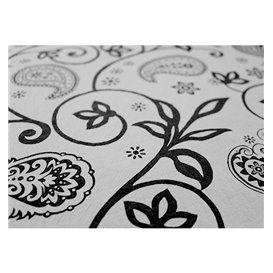 """Nappe en papier 1,2x1,2m """"Cachemire Noir"""" 37g (300 Unités)"""