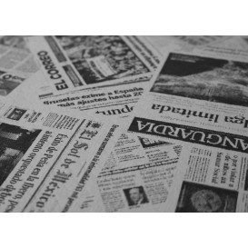 """Nappe en papier 1,2x1,2m """"Presse"""" 37g (300 Unités)"""