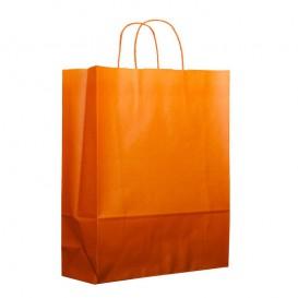 Sac en Papier Orange avec Anses 100g 25+11x31cm (200 Utés)
