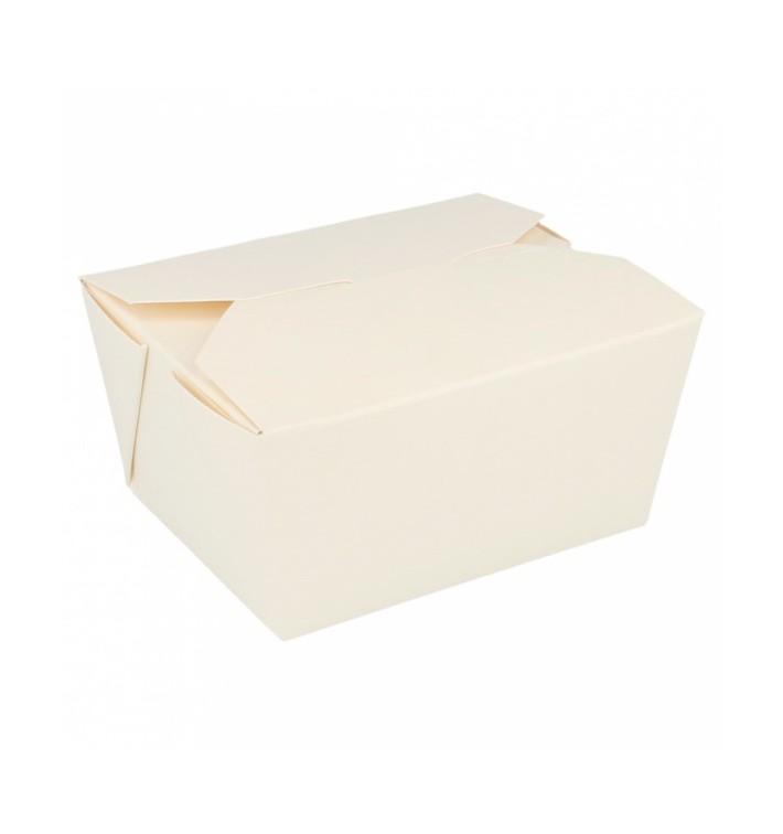 Boîte Carton Américaine Blanc 11,3x9x6,4cm 780ml (450 Utés)