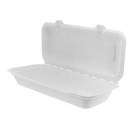 Suikerriet Gescharnierd Panini Container 29x27,3x3,75cm (200 stuks)