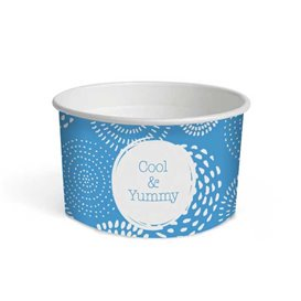 "Pot à glace en carton 6oz/175 ml ""Cool&Yummy"" (50 Unités)"
