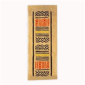 """Enveloppe Bestekhouder met Servet """"Tribal"""" (125 stuks)"""