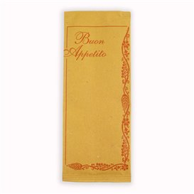 """Enveloppe Bestekhouder met Servet """"Buon Appetito"""" (125 stuks)"""