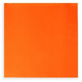 Papieren servet oranje 20x20cm (100 stuks)
