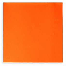 Serviette Papier à Cocktail 20x20 Orange (100 Unités)