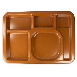 Plastic Compartment dienblad Hard Chocolade 5C 47x35cm (25 stuks)