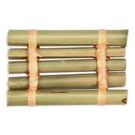 """Bamboe wegwerp dienblad """"Balsa"""" 8x5cm (24 stuks)"""