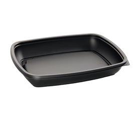 Barquette Plastique PP Noir 600ml 23x16,5cm (300 Utés)