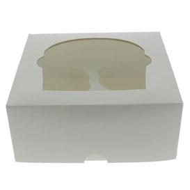 Boîte pour 4 Cupcakes Blanc avec insert (140 Unités)
