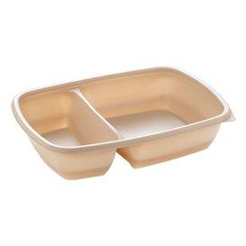 Barquette Plastique PP 2C Crème 900ml 23x16,5x5cm (300 Utés)
