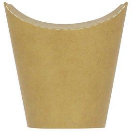 Gobelet Carton Ingraissable Effet Kraft avec Rabat 14Oz/420ml (50 Utés)