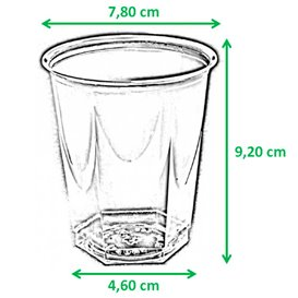 Gobelet Plastique Hexagonal Fuchsia PS Cristal 250ml (10 Utés)