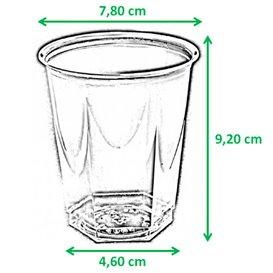 Gobelet Plastique Hexagonal Pistache PS Cristal 250ml (10 Utés)