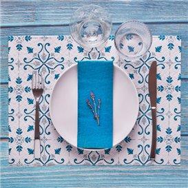"""Set de Table papier 30x40cm """"La Valenciana"""" Turquoise 40g/m² (1000 Utés)"""