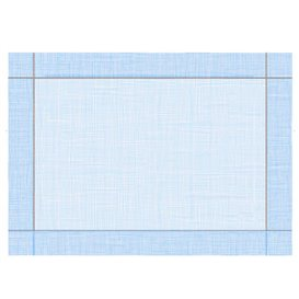 """Set de Table papier 30x40cm """"Entre Lignes"""" Bleu 40g/m² (1000 Utés)"""