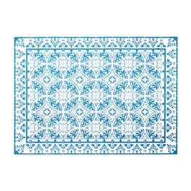 """Set de Table papier 30x40cm """"Alhambra"""" Turquoise 50g/m² (1000 Utés)"""
