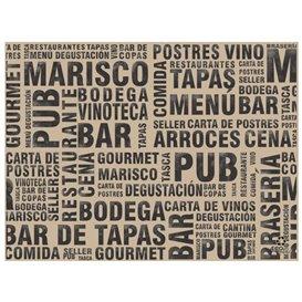 """Set de Table en Papier Kraft """"Gourmet"""" 30x40cm 40g/m² (1.000 Utés)"""