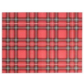 """Set de Table en Papier Rouge """"Glasgow"""" 30x40cm 40g/m² (1.000 Utés)"""