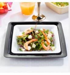 Assiette carrée Plastique dur Blanc 18x18cm (20 Utés)
