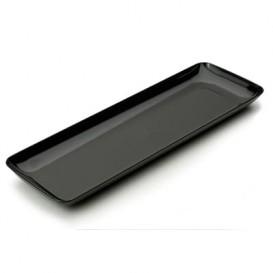 Plastic Proeving dienblad PS zwart 6x19 cm (20 stuks)