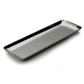 Plastic Proeving dienblad PS zilver 6x19 cm (20 stuks)