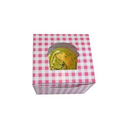 Caja con Soporte para 1 Cupcakes 11x10x7,5 B-20 (200 Unidades)