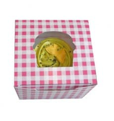 Boîte pour 1 Cupcake Rose avec insert (200 Utés)