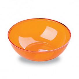 Plastic Kom PS Kristal Hard oranje 400ml Ø14cm (60 stuks)