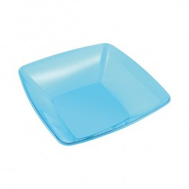 Plastic Kom PS Kristal Hard turkoois 480ml 14x14cm (4 stuks)