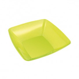 Plastic Kom PS Kristal Hard groen 480ml 14x14cm (60 stuks)