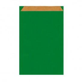 Papieren envelop kraft groen 12+5x18cm (125 stuks)