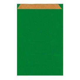 Papieren envelop kraft groen 19+8x35cm (125 stuks)
