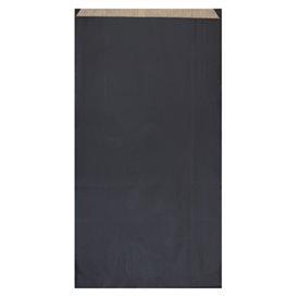 Sac Papier Kraft Noir 19+8x35cm (750 Unités)