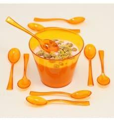 Cuillère Plastique Premium Orange 160mm (10 Unités)