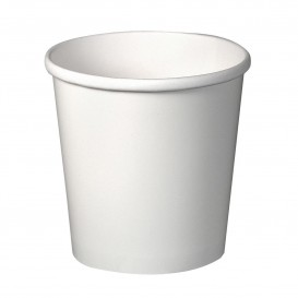 Pot en Carton Blanc 16Oz/473ml Ø9,8cm (25 Unités)