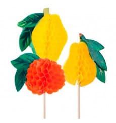 Piques de Décoration Fruit 10cm (100 Utés.)
